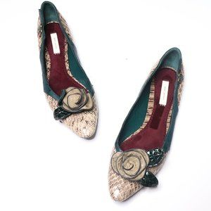 Marc Jacobs | Reptile Bow Toe Flats 38.5/8.5M